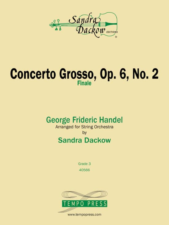 over of Concerto Grosso Op. 6 No. 2